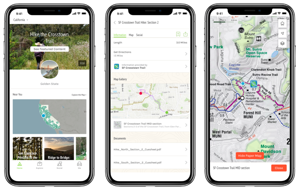 Maps and Cue Sheets – SF Crosstown Trail Downloadable Map App on